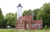 Presque Isle Light on Lake Erie in Pennsylvania