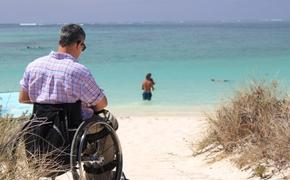 Wheelchair, accessibility, beach