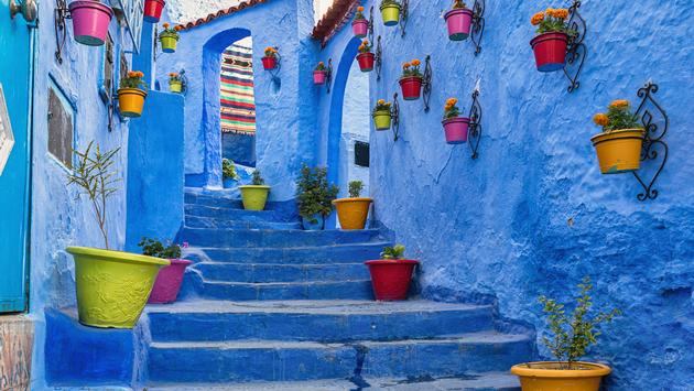 Blue coloured medina in Chefchaouen, Morocco. (AnetteAndersen / iStock / Getty Images Plus)