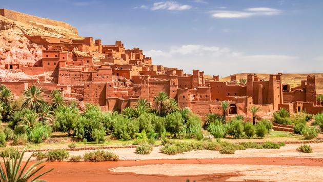 Ait Benhaddou, an ancient fortress city in Morocco near Ouarzazate on the edge of the sahara desert. Used in fils such as Gladiator, Kundun, Lawrence of Arabia, Kingdom of Heaven (pawopa3336 / iStock / Getty Images Plus)