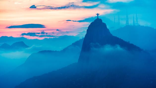 Sunset view of Rio de Janairo, Brazil (photo via Detanan / iStock / Getty Images Plus)
