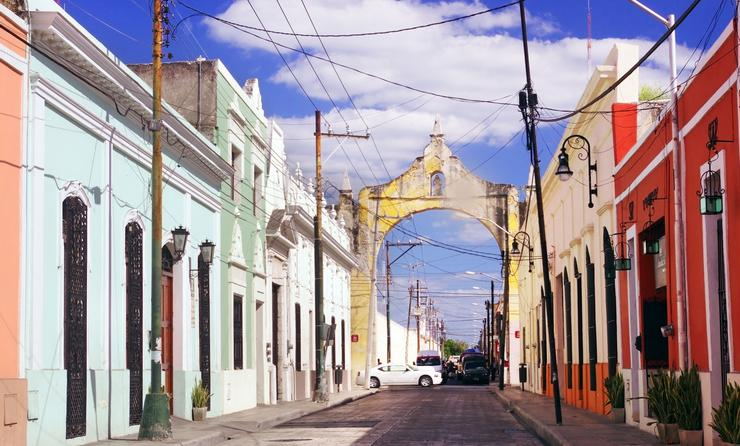 Colorful street in the old part of Merida, Yucatan, Mexico (photo via JoannElle / iStock / Getty Images Plus)