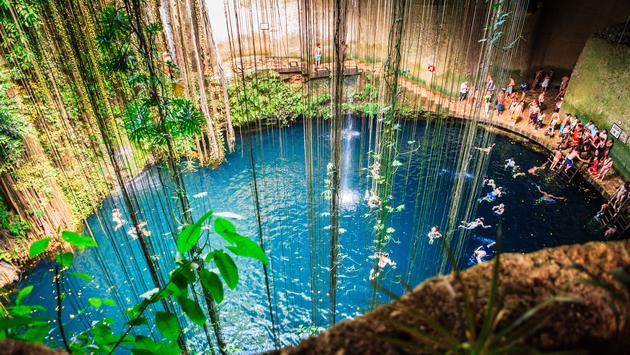 Cenote Ik-Kil, Mexico (photo via gappino / iStock / Getty Images Plus)
