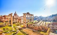 Roman ruins in Rome, Italy (photo via sborisov / iStock / Getty Images Plus)