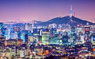 Seoul, South Korea city skyline nighttime skyline.  (photo via Reabirdna / iStock / Getty Images Plus)