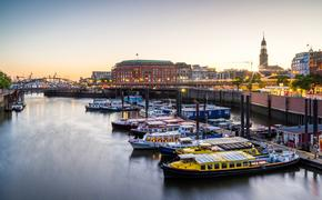 Hamburg Harbor and Cityscape, Northern Germany (Photo via jotily / iStock / Getty Images Plus)