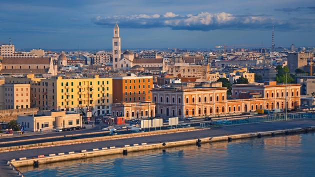 Bari located in southern Italy. It is the second most important economic centre of mainland Southern Italy after Naples. (photo via RudyBalasko / iStock / Getty Images Plus)