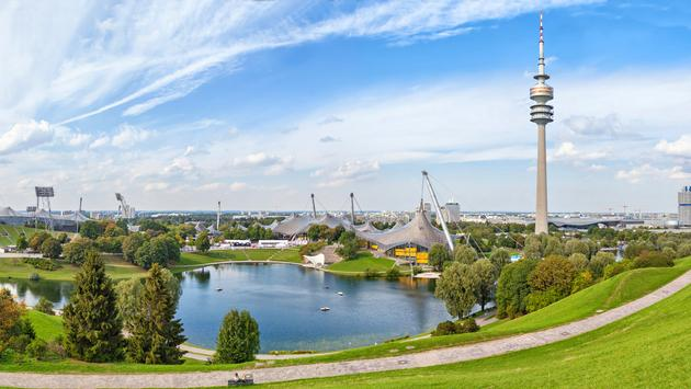 Panorama of Olympic park in Munich, Germany (bbsferrari / iStock / Getty Images Plus)