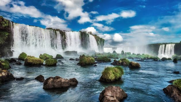 Iguazu Falls South America.  (photo via RicardoKuhl/iStock/Getty Images Plus)