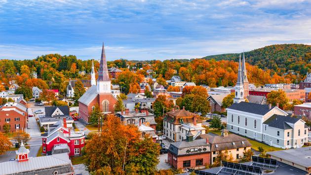 Montpelier, Vermont, USA autumn town skyline. (SeanPavonePhoto / iStock / Getty Images Plus)