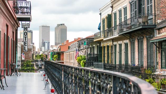 View from the French Quarter in new orleans to Downtown (Kaitlyn Holeman / iStock / Getty Images Plus)