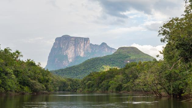 View of Autana mount, in Amazonas state, in southern Venezuela (photo via PCostaBaldi / iStock / Getty Images Plus)