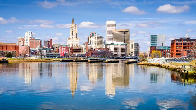 Providence, Rhode Island city skyline on the river. (Photo via SeanPavonePhoto / iStock / Getty Images Plus)