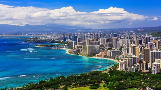 Skyline of Honolulu, Hawaii.  (photo via sorincolac/iStock/Getty Images Plus)