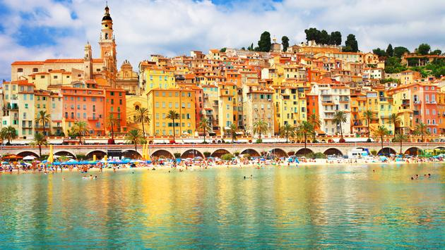 holidays in sunny Menton,south of France (Photo via Freeartist / iStock / Getty Images Plus)