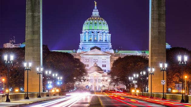 Pennsylvania State Capitol in Harrisburg.  (photo via SeanPavonePhoto/iStock/Getty Images Plus)