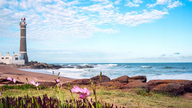 Lighthouse in Jose Ignacio near Punta del Este, Uruguay (photo via xeni4ka / iStock / Getty Images Plus)
