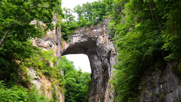 Natural Bridge, Virginia (photo via zrfphoto / iStock / Getty Images Plus)