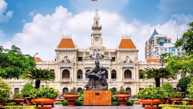 Ho Chi Minh City Hall in Ho Chi Minh City, Vietnam.  (photo via rmnunes/iStock/Getty Images Plus)