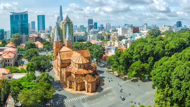 Ho Chi Minh City sunny day.  (photo via HuyThoai/iStock/Getty Images Plus)
