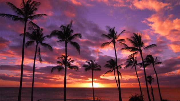 Hawaiian Sunset Molokai Hawaii (photo via digital94086 / iStock / Getty Images Plus)