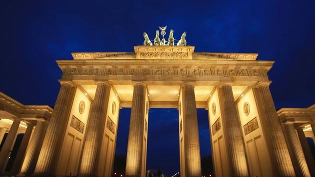 View of the Brandenburg Gate in Berlin Germany (photo via Alexander Hassenstein/DigitalVision)