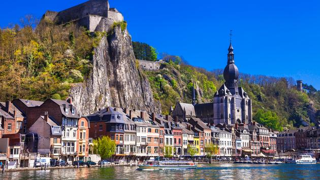Beautiful Dinant At The River Meuse in Belgium. (Phto via Freeartist / iStock / Getty Images Plus)