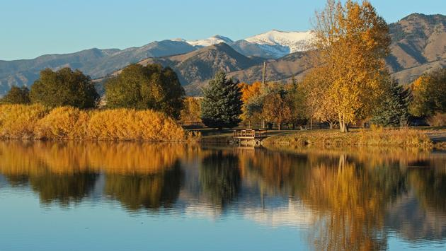 he autumn colors begin to take over the landscape near Bozeman, Montana. (Photo via Walt Snover / iStock / Getty Images Plus)