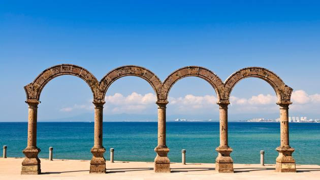 Los Arcos Amphitheater at Pacific ocean in Puerto Vallarta, Mexico (Photo via Elenathewise / iStock / Getty Images Plus)