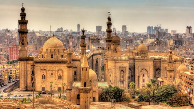 View of the Mosques of Sultan Hassan and Al-Rifai in Cairo - Egypt (Photo via    Leonid Andronov / iStock / Getty Images Plus)