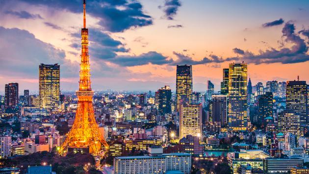 Tokyo, Japan at Tokyo Tower.