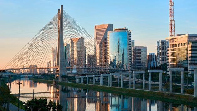 Sao Paulo Brazil Octavio Frias de Oliveira Bridge (photo via cifotart / iStock / Getty Images Plus)
