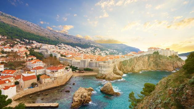 Sea Walls - part of Dubrovnik military defences - defend the city from sea-based attacks. (photo via phant / iStock / Getty Images Plus)