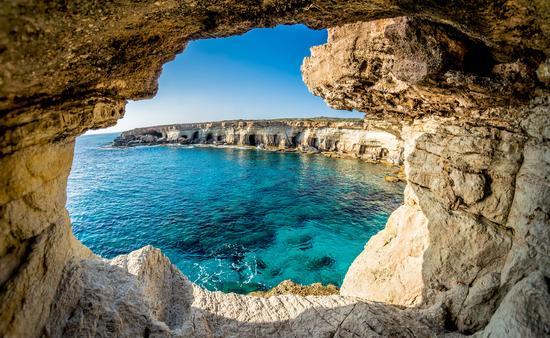 Sea Caves near Ayia Napa, Cyprus. (photo via Kirillm / iStock / Getty Images Plus)