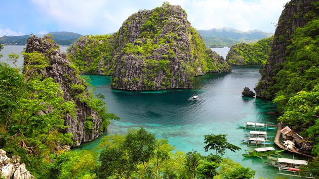 landscape of Coron, Busuanga island, Palawan province, Philippines (Photo via Sean3810 / iStock / Getty Images Plus)