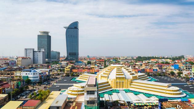 central phnom penh in cambodia (Photo via jackmalipan / iStock / Getty Images Plus)