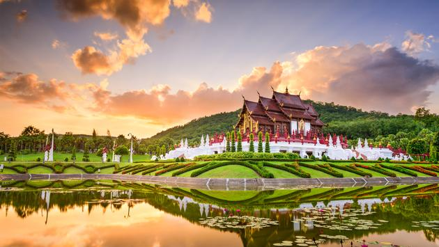 Chiang Mai, Thailand at Royal Flora Ratchaphruek Park. (photo via SeanPavonePhoto / iStock / Getty Images Plus)