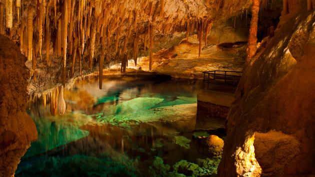Crystal Caves in Bermuda (Photo via southlandp / iStock / Getty Images Plus)