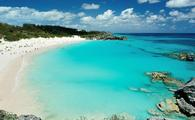 Pink beach in Bermuda islands (Photo via dimarik / iStock / Getty Images Plus)