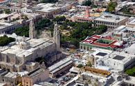Aerial view of downtown Merida, Yucatan
