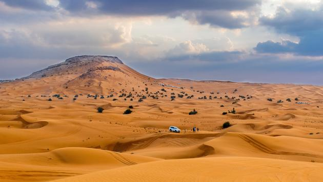 Desert safari in Dubai, United Arab EmiratesDesert in Dubai, United Arab Emirates (photo via anderm / iStock / Getty Images Plus)