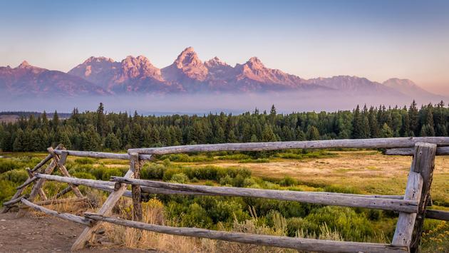 View of Grand Teton Mountains (photo via aoldman / iStock / Getty Images Plus)