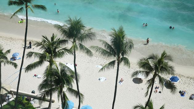 Waikiki Beach from above. (photo via Hiro_photo_H / iStock / Getty Images Plus)