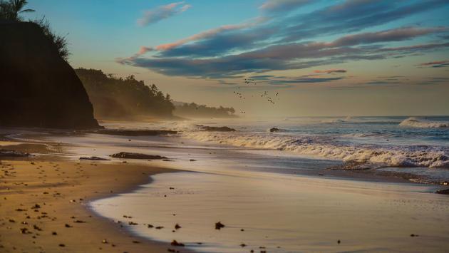 Sunrise at Pacific beach, Riviera Nayarit, Mexico (photo via La_Corivo / iStock / Getty Images Plus)