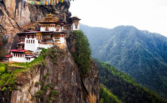 Tiger's Nest at Paro Bhutan (Photo via StephenChing / iStock / Getty Images Plus)