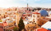Old City of Jerusalem with the aerial view. View of the Church of the Holy Sepulchre, Israel. (Photo via seregalsv / iStock / Getty Images Plus)