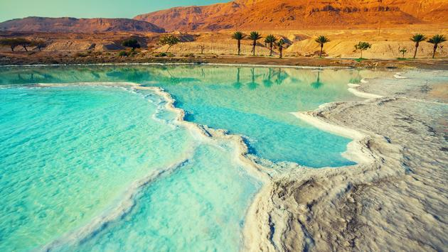 Dead sea salt shore (Photo via vvvita / iStock / Getty Images Plus)