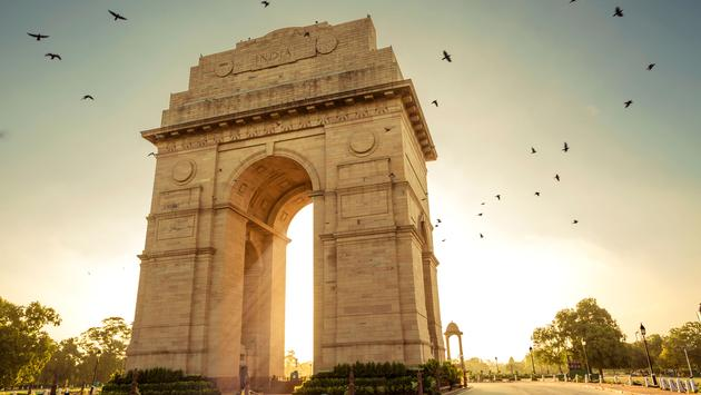 India Gate, New Delhi, India (photo via VSanandhakrishna / iStock / Getty Images Plus)