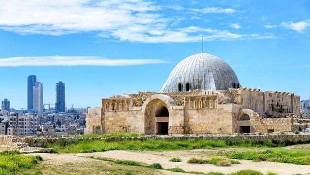 Umayyad Palace at the Citadel in Amman, Jordan (Photo via Astalor/ iStock / Getty Images Plus)