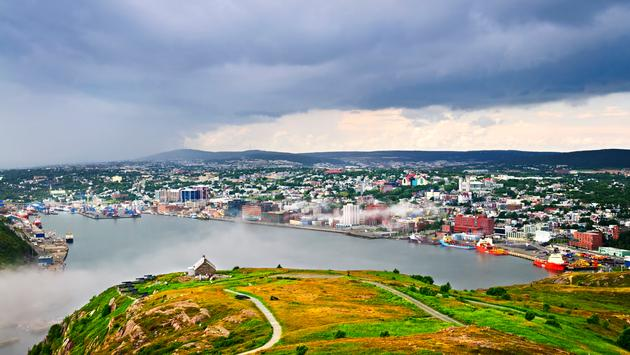 Cityscape of Saint John's from Signal Hill in Newfoundland Canada (photo via Elenathewise/iStock / Getty Images Plus)